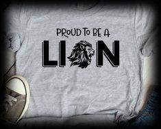 School Spirit Shirts, School Shirts, Teacher Shirts, Lion Clipart, High School Mascots, Friends Coffee Mug, The Design Files, Print And Cut, Printed Shirts