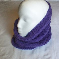 Hey, I found this really awesome Etsy listing at https://www.etsy.com/listing/174215339/purple-hand-knitted-cowl-scarf-neck