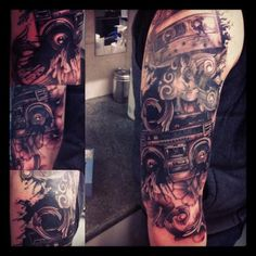 Custom Ghetto Blaster sleeve 2012 Id totally get a tattoo like this