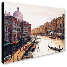 ''Venice'' Canvas Wall Art () ($215) ❤ liked on Polyvore featuring home, home decor, wall art, canvas wall art and canvas home decor