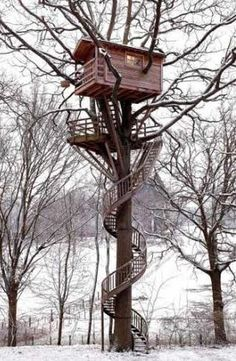 Treehouse + imaginary nautical crow's nest?