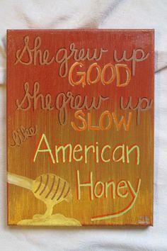 American Honey Lady Antebellum by WordsNotWar on Etsy, $40.00