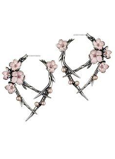 'Cherry Blossom' rhodalite earrings | SHAUN LEANE  wayy too expensive but cool