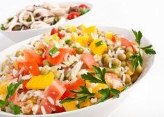 Light rice salad- Italian recipe