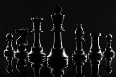 Chess Figures On Dark Black Background Close Up Chess Piece Tattoo, Zettai Karen Children, Chess Quotes, Black Dragon, Dark Photography, Photoshop, Black Backgrounds, Photo Art, Stock Photos