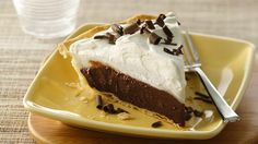 Chocolate Haupia Pie Recipe: Chocolate pie borrows a bit of Hawaiian culture with its use of coconut milk to create a creamy chocolate pie and traditional coconut topping