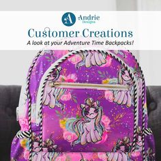 A look at some incredible Adventure Time Backpacks Adventure Time Backpack, My Little Pony Backpack, Floral Backpack, Lisa S, Bird Design, Covergirl, Fashion Backpack, Back To School, The Incredibles