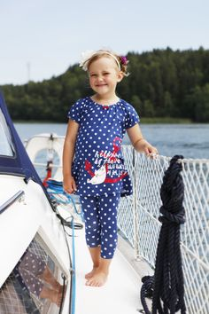 Moomins at the seaside. Childrens clothing from Martinex.