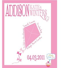 Customized Birth Announcement Nursery Print  by lovelylittleparty, $18.00