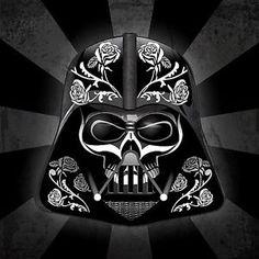 "Star Wars Sugar Skull | Details about 2.5"" Star Wars Darth Vader Sugar skull sticker / decal ..."