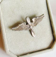 Sterling Silver WWII Pilot Wings Propeller by normajeanscloset, $39.99