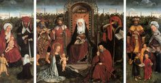 Triptych of the family of St Anne by unknown Flemish Master-   http://www.lib-art.com/imgpainting/3/6/17763-triptych-with-the-family-of-st-anne-flemish-unknown-master.jpg