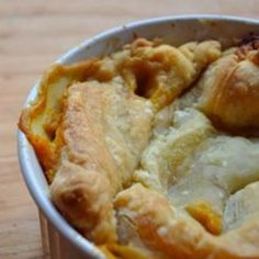 A Reader Recipe: Healthy Vegetarian Pot Pie Recipe = This turned out super delicious!  I had a lot of veggies, so I doubled the sauce.  I also mixed chicken into 1/2 of it and made 6 individual ramekins for me and my non-vegetarian family members.  It was a big hit for all!