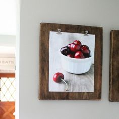 Think outside the typical photo frame, and display your photos on a beautiful DIY Photo Clipboard! Easy to make and only $3 each!