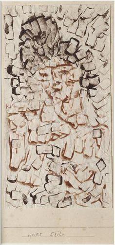 Paul Klee, Exötin (Femme exotique), 1933 - couleur à la colle et crayon sur papier vergé et carton