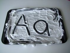 Shaving Cream Alphabet Writing activity for kids.  What a great sensory experience and memorable way to teach writing ABC's to young children!    Craft supplies you will need:        Shaving cream (foam)      Tray    Craft instructions:    Have the children spray shaving cream into a tray.    Then, call out alphabet letters and have the children shape their letters in the shaving cream!