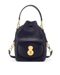 Fashion Week NYC: Ralph Lauren Collection Ricky Leather Drawstring Bag