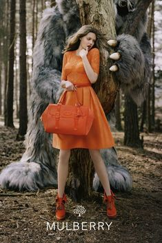 Lindsey Wixson for Mulberrys Fall 2012 Campaign by Tim Walker