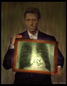 Cool portrait of Hugh Laurie as Dr. House.