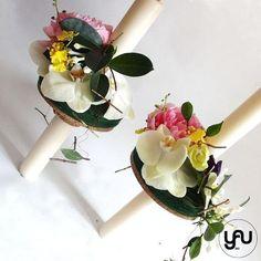Lumanari cununie scurte orhidee bujori lathyrus - LC38 – YaU concept Flora, Table Decorations, Wedding, Design, Home Decor, Valentines Day Weddings, Decoration Home, Room Decor