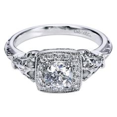 $950 white gold victorian halo engagement ring