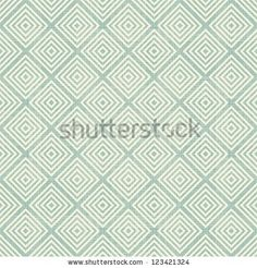 retro geometric seamless pattern with fabric texture on - stock photo