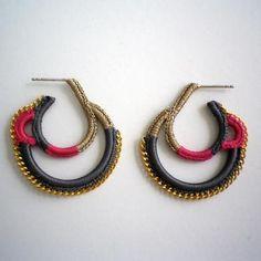 Shingo Matsushita crocheted earrings