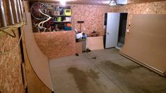 View topic - another garage mini ramp! Backyard Skatepark, Mini Ramp, Skateboard Ramps, Skate Park, Skateboarding, Home Projects, Garage, Indoor, Cool Stuff