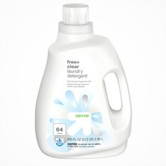 Free Clear HE Liquid Laundry Detergent - 64 loads - Up&Up Liquid Laundry Detergent, Medical Help, Fabric Softener, Health Facts, Biodegradable Products, Whitening, Sensitive Skin, Fragrance, Product Packaging