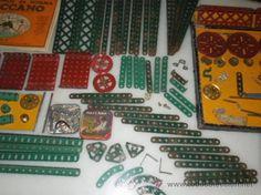 juego de meccano años 20 cumpuesto por dos cajas originales dos catalogos y las piezas de las fotos
