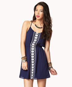 Embroidered Boho Shift Dress | FOREVER 21 - 2041719277