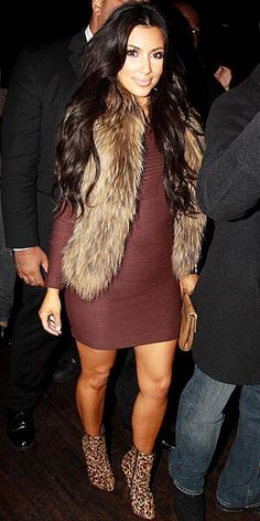 Not a fan of Kim...but this outfit is adorable!!!