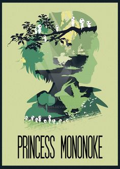 Princess Mononoke ~ Minimal Movie Poster by Ruben ~ Hayao Miyazaki Series Studio Ghibli Poster, Studio Ghibli Art, Studio Ghibli Movies, Studio Art, Totoro, Howl's Moving Castle, M Anime, Anime Art, Mononoke Anime