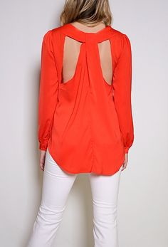 Cut out back shirt: I have this shirt & love it!!