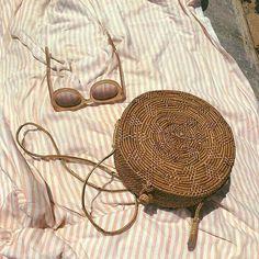 Blushed Darling | Andrea Burtea Summer Beach, Summer Vibes, Bali, Lily Evans, Beach Accessories, Basket Bag, Summer Aesthetic, Summer Essentials, Madame