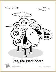 Baa Black Sheep Printable Coloring Page