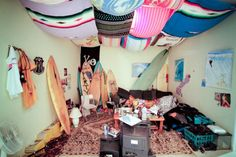 mexican blanket & towel canopy