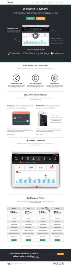 Katemi – Product and App Landing Page