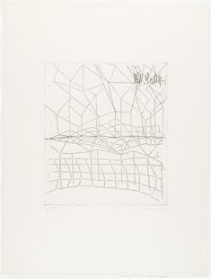"""Gego (Gertrud Goldschmidt). Reticulárea. 1973, printed 1988. Etching. plate: 13 9/16 x 11 3/4"""" (34.5 x 29.8 cm); sheet: 25 7/8 x 19 3/4"""" (65.7 x 50.2 cm). the artist. proof outside the edition of 20. Miranda Kaiser Fund. 276.2004. © 2017 Fundación Gego. Drawings and Prints"""