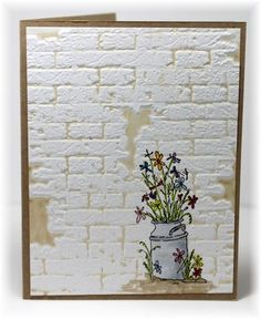 brick wall card by Becky                                                                                                                                                     More