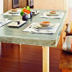 Sleek dining table - $125 DIY - Sunset Magazine - temporary option?