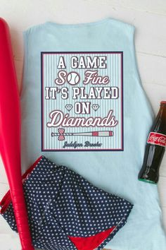 A game so fine its played on diamonds Tank Top   #musthave #boutique #southernpalette #instagood #southernstyle #getinmycloset    shop www.southernpalette256.com