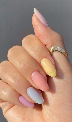 Stylish Nails, Trendy Nails, Acylic Nails, Nagellack Design, Best Acrylic Nails, Neutral Acrylic Nails, Rounded Acrylic Nails, Pastel Nail Art, Square Acrylic Nails