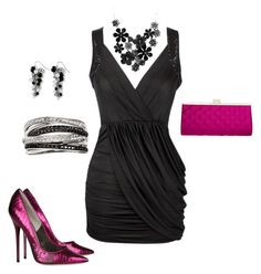"""""""night out"""" by mamatrent ❤ liked on Polyvore featuring Jimmy Choo, Effy Jewelry and White House Black Market"""