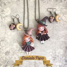 Polymer Clay Dolls, Owl, Pendant Necklace, Photo And Video, Instagram, Pasta, Videos, Photos, Ear Rings
