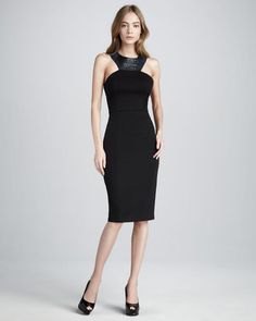 Sachin + Babi - Keeley Leather Accent Dress - $350.00 - Click on the image to shop now