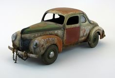 """""""Oh Lordy, A Ratty Ford Forty"""" by Virgil """"Dr. Cranky"""" Suarez. #model_cars #scale_model http://public.fotki.com/vsuarez666/voodoo-customs-chop-shop/models-1/lordy-forty-fordy/"""