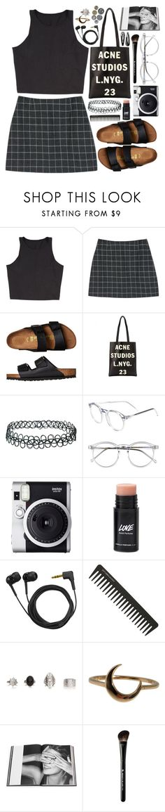 """Acne"" by thekidofthe90s ❤ liked on Polyvore featuring StyleNanda, Birkenstock, Acne Studios, Topshop, Wildfox, Fuji, Sennheiser, GHD, Lulu Frost and Rizzoli Publishing"