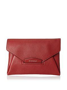 Givenchy Women's Medium Antigona Envelope Clutch, Wine