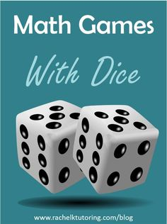 Kids will love these math games with dice! Using dice for math can make a boring worksheet come alive. Kids will love these math games with dice! Using dice for math can make a boring worksheet come alive. Math College, Math School, Math Tutor, Teaching Math, Teaching Strategies, Math For Kids, Fun Math, Math Help, Math Stations